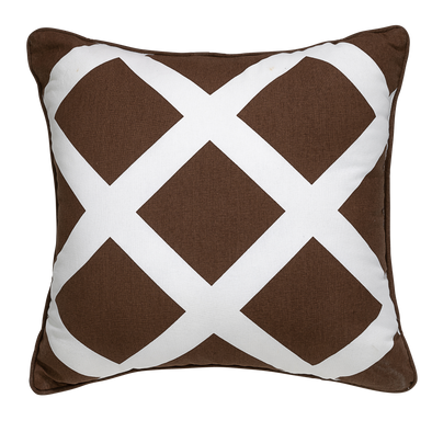 Alexa Taupe Geometric Throw Pillow