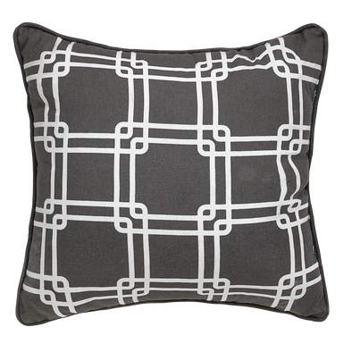 Aster Taupe Geometric Throw Pillow