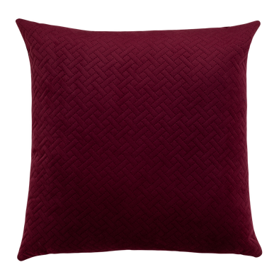 Currant Basket Weave Throw Pillow