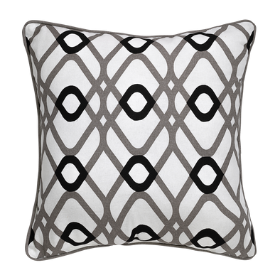 Biscotti Geometric Throw Pillow