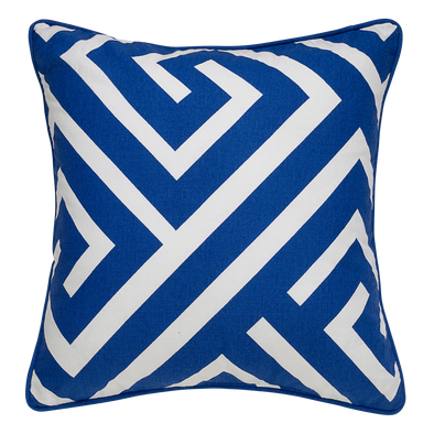 Anise Blue Geometric Throw Pillow
