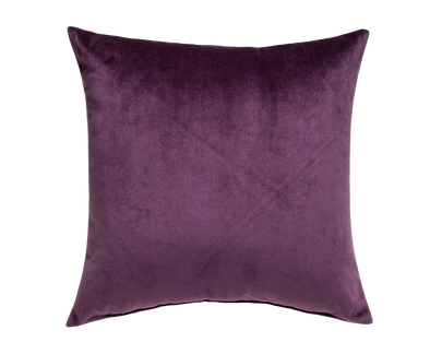 Amethyst Plum Bohemian Velvet Throw Pillow