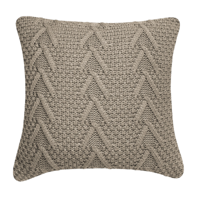 Hampton Tan Celtic Braid Throw Pillow