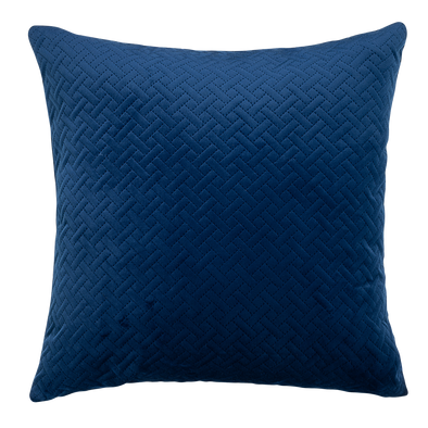 Cobalt Basket Weave Throw Pillow