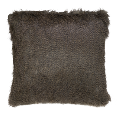 Nutria Faux Fur Throw Pillow
