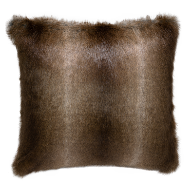 Camello Faux Fur Throw Pillow