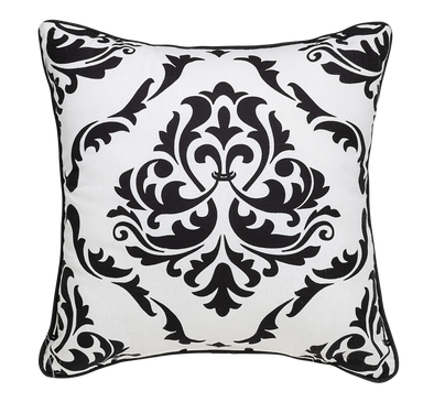 Florence White Throw Pillow