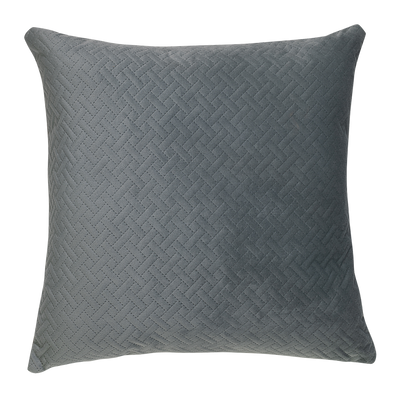 Heather Grey Basket Weave Throw Pillow