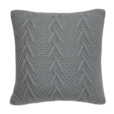 Hampton Grey Celtic Braid Throw Pillow