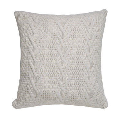 Hampton White Celtic Braid Throw Pillow