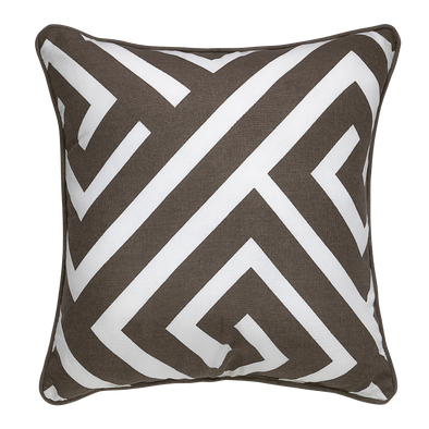 Anise Taupe Geometric Throw Pillow