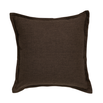 Oak Umber Tweed Throw Pillow