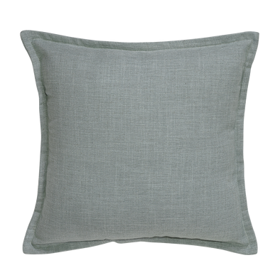Honeydew Jade Oasis Linen Throw Pillow