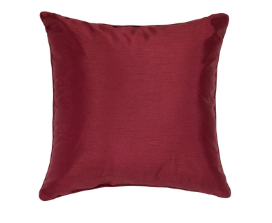 Scarlet Faux Silk Throw Pillow