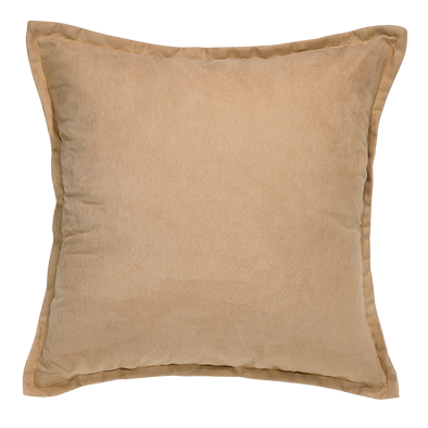 Alpaca Tan Suede Throw Pillow