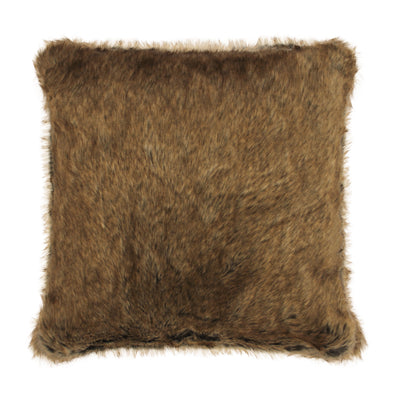Castor Faux Fur Throw Pillow