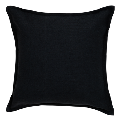 Ebony Metal Tweed Throw Pillow
