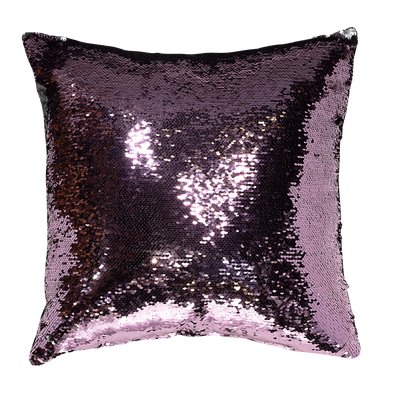 Cushello Decorative Mermaid Sequin Reversible Throw Pillow Cover, 18x18""