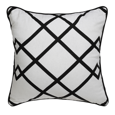 Diamond Geometric Cotton Throw Pillow