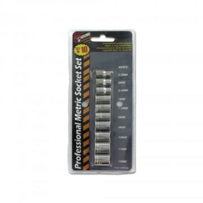 10 pc Professional Metric Socket Set - Keuka Outlet