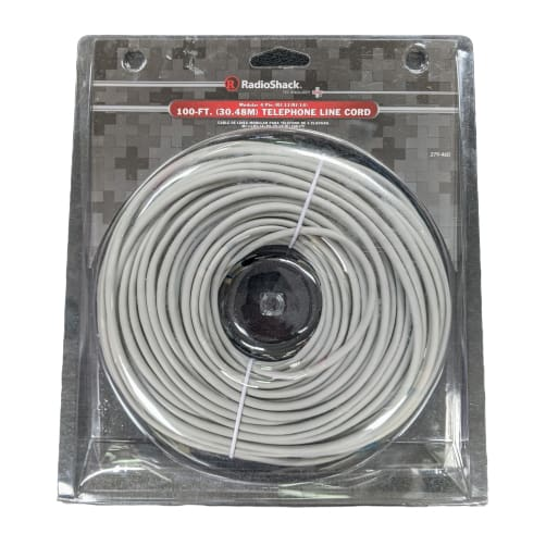 100 Ft Telephone Line Cord Gray - Electronics