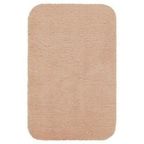 20x34 Soft Solid Shag Bath Rug Peach - Bath