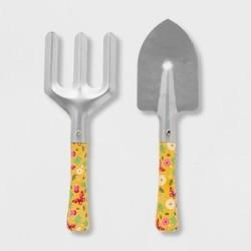 2pc Butterfly Gardening Tool Set Pink - Keuka Outlet