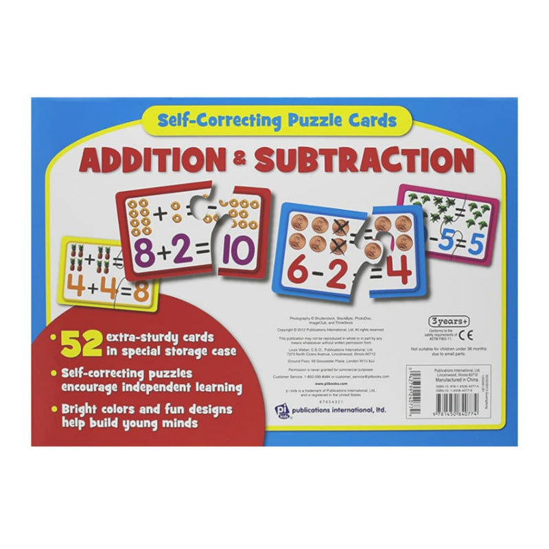52-Piece Self-Correcting Add/Subtract Puzzle