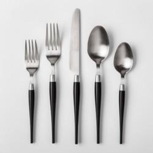 5pc Matte Black Silverware Set - Home