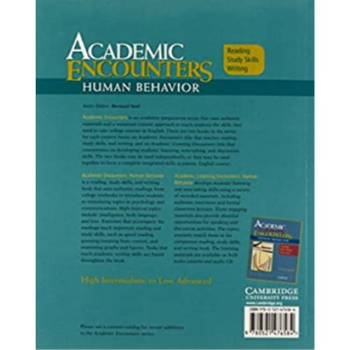 Academic Encounters: Human Behavior- Reading Study Skills Writing (Student's Book) - Media