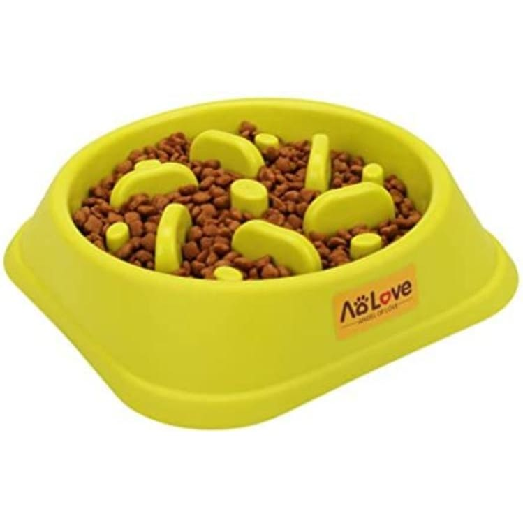 AOLOVE Slow Feeder Bowl Healthy Food Fun Anti-Choke Pet Bowls for Dog - Pets