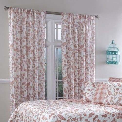Belle Maison Botanica Rod Pocket Curtain Panel - 55 x 84 / Sienna