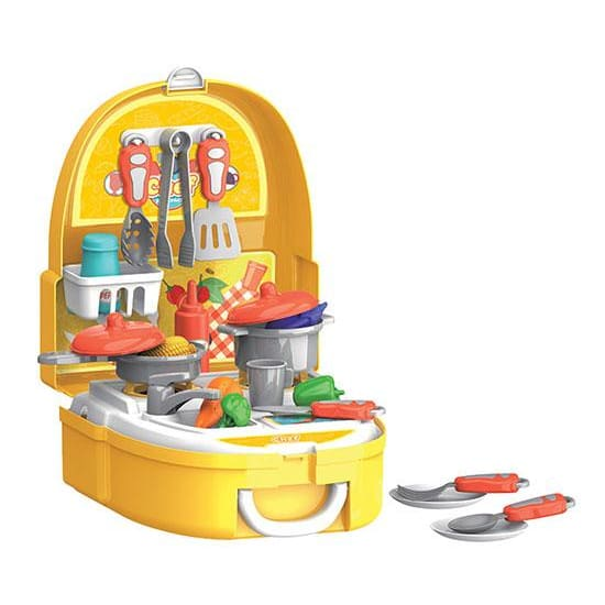 Chef Backpack 25-Piece Cooking and Kitchen Playset - Toys
