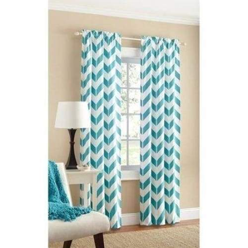 Chevron Polyester/Cotton Curtain Panel Pair - Keuka Outlet