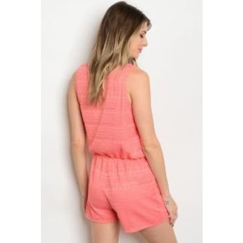 CORAL LACE ROMPER - Keuka Outlet