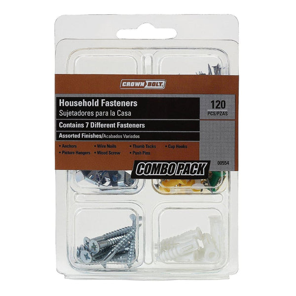 Crown Bolt 00554 120-Piece Household Combination Pack - Keuka Outlet