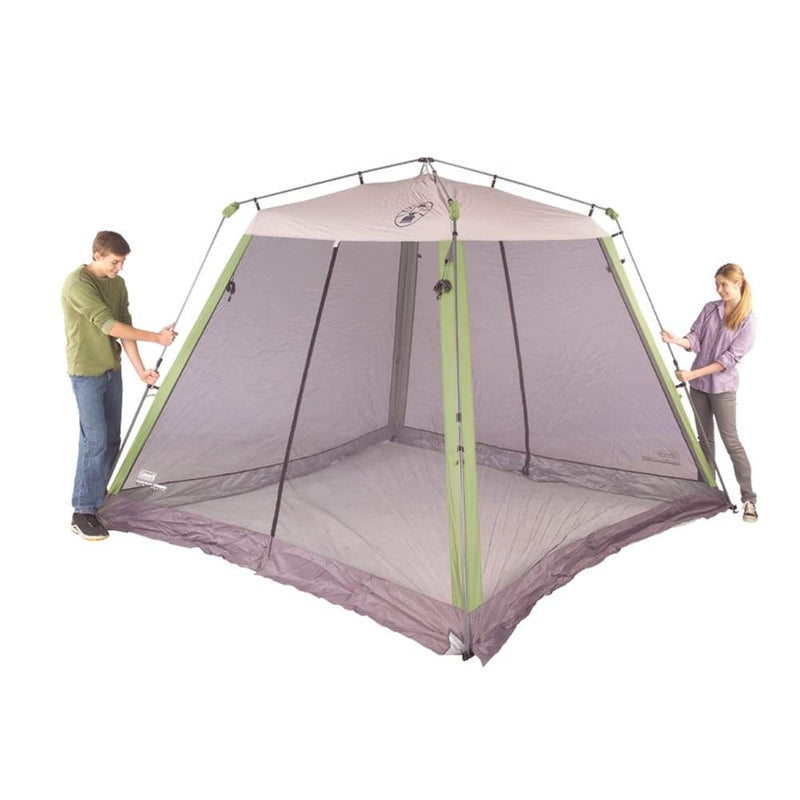 (LIKE NEW) Coleman 10x10 Slant Leg Instant Canopy Screen House (LIKE NEW) - Outdoors