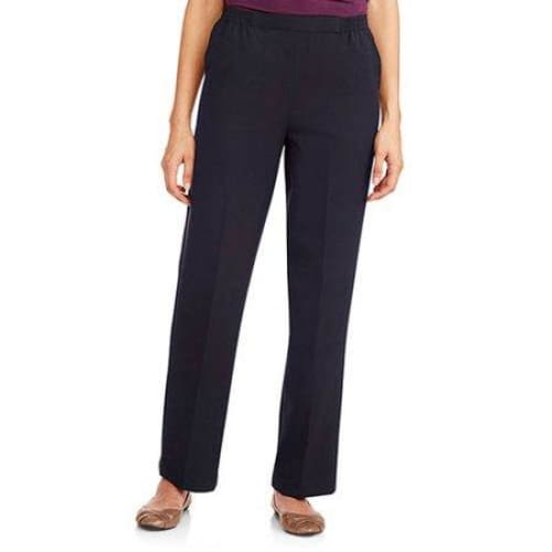 Donnkenny Women's Slimming Panel Pull-on Pant - 18 / Navy
