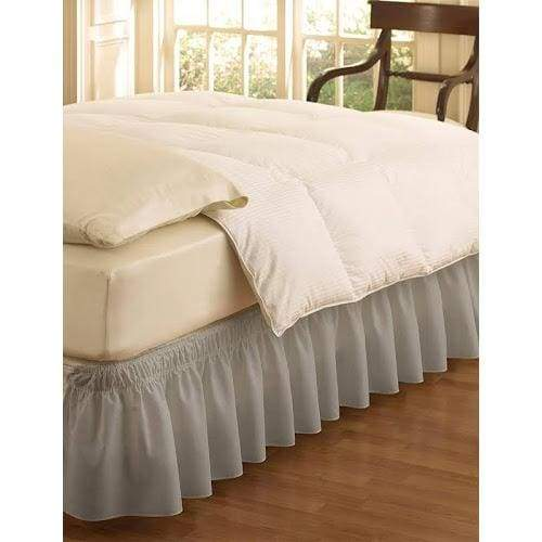 EasyFit Wrap Around Solid Ruffled Bed Skirt - Keuka Outlet