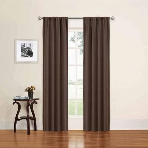 Eclipse Alexis Blackout Window Curtain Panel - 52 x 95 / Chocolate - Curtains