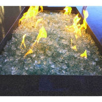 Element Aquamarine 1/2 Large Fire Pit Glass, 10 lbs - Keuka Outlet