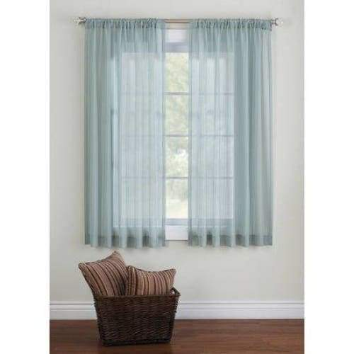 Elise Woven Stripe Sheer Window Panel - Keuka Outlet