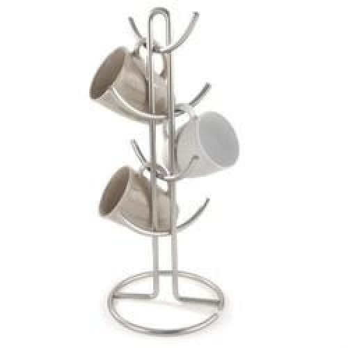 Euro Metal 8-Mug Holder in Satin Nickel - Home
