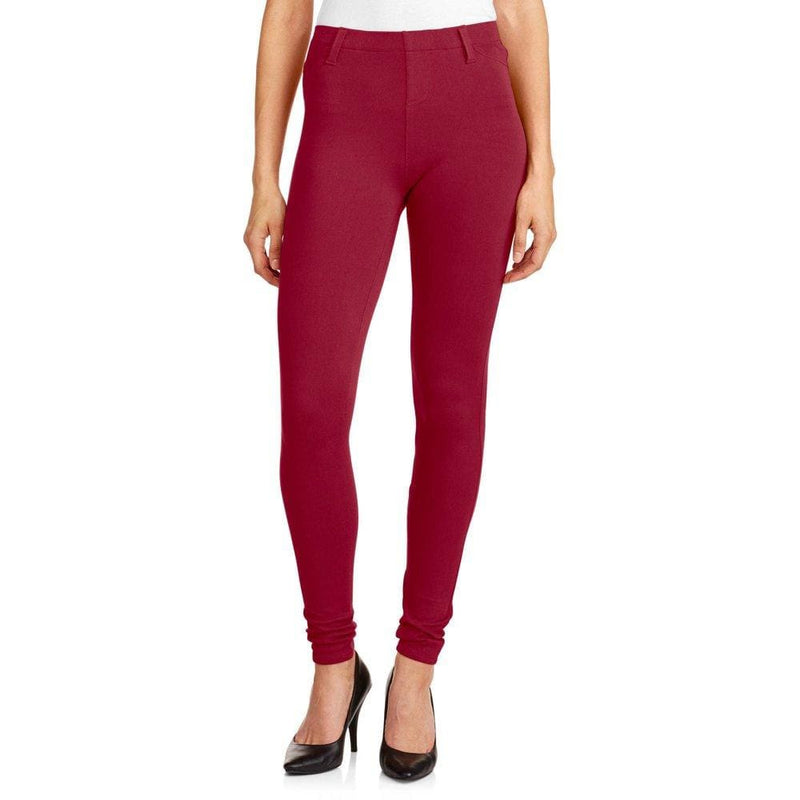 Faded Glory Women's Full Length Knit Color Jegging - S (4-6) / Classic Red - Clothing