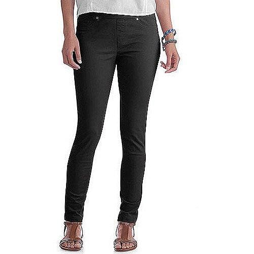 Faded Glory Women's Petite Denim Jeggings - 14P / Black Denim - Clothing