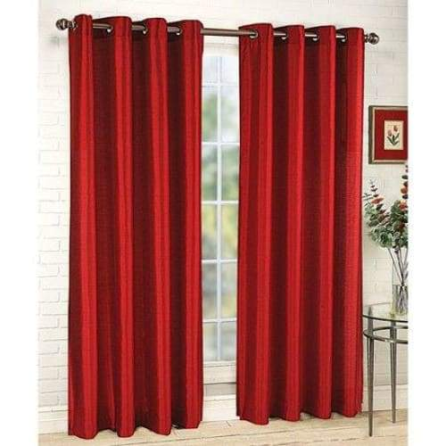 Faux Silk Grommet Single Curtain Panel - Keuka Outlet