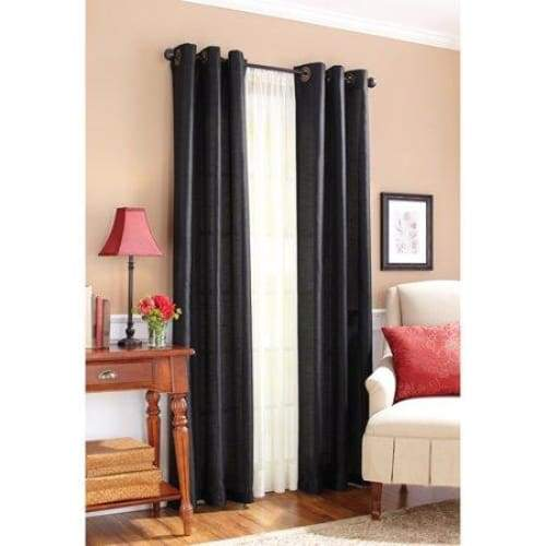 Faux Silk Window Panel - Curtains