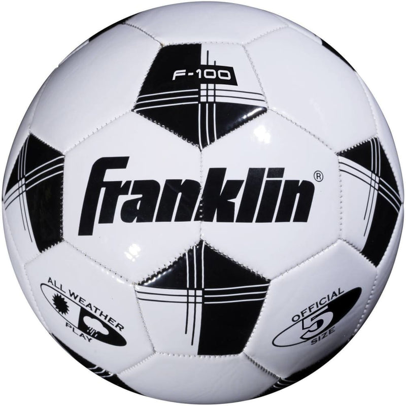 Franklin Sports Competition Soccer Ball, Size 5, Black and White - Keuka Outlet