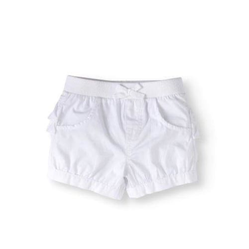 Garanimals Baby Girls' Solid Ruffle Back Shorts - Keuka Outlet