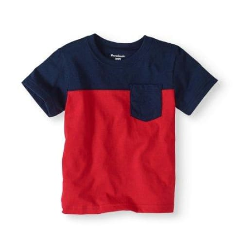 Garanimals Toddler Boy Short Sleeve Colorblock Pocket T-shirt - Keuka Outlet